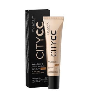 MÁDARA CITY CC CREAM SPF15 ANTI-POLLUTION MEDIUM BEIGE 40 ML