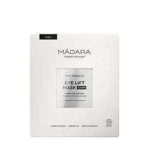 MÁDARA TIME MIRACLE EYE LIFT HYDRA-GEL PATCHES MASCHERA CONTORNO OCCHI 5 PZ